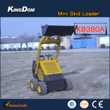 China best Mini skid steer Mini Bobcat with American B&S engine Italian valve and bucket 380kg capacity