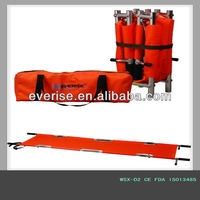 aluminum first aid rescue medical emergency patient transfer lengthwise and widthwise foldable 4 folding stretcher