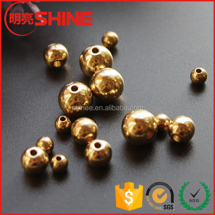Wholesale 3mm 4mm 5mm 6mm 8mm 10mm ..Solid Drilled hole Loose Beads Jewelry Brass Beads
