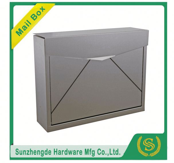 SMB-061SS New Design Home Safety Bush Hammered Garden Stone Mailbox