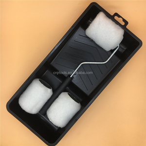 3 pcs paint roller set with paint pad tray
