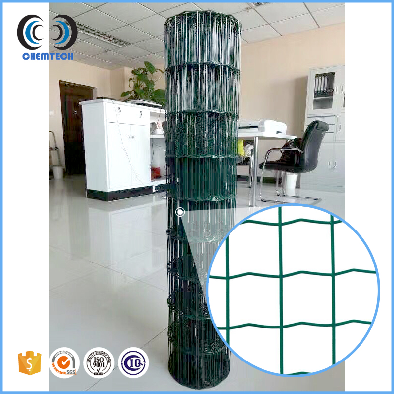 Green pvc coated holland wire mesh /Dutch wave wire mesh fence
