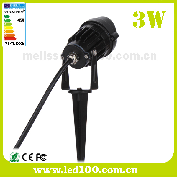 3w cob led jardin pelouse spot ext rieur lumi re 220v 12v for Lumiere spot exterieur