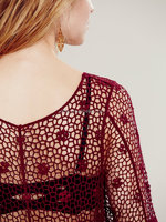 2015 european style hot sale water soluble crochet lace women round-neck design short sleeve transparent sexy blouses