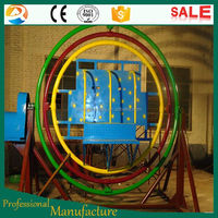 Children love amusement theme park spin cycle human gyroscope