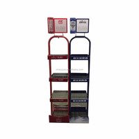 Customed Portable Metal Beer Display Rack