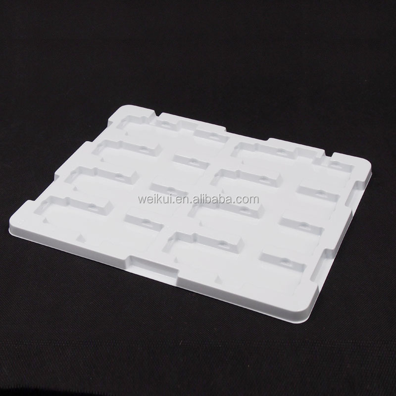 China factory custom PS black plastic ESD Blister tray for Industrial Use