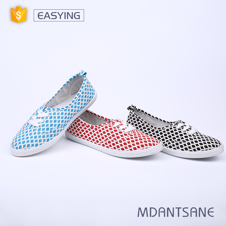 Chinese manufacture cheap casual canvas shoes for women