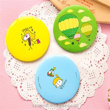 Hot selling top quality new shape eco-friendly promotion portable Hand held mini plastic compact mirror with separate comb