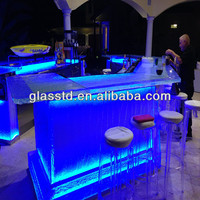 solid surface commercial bar counters