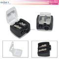 BSP0005 Precision Cosmetic Pencil Sharpener for Eyebrow Lip Liner Eyeliner 2 Holes
