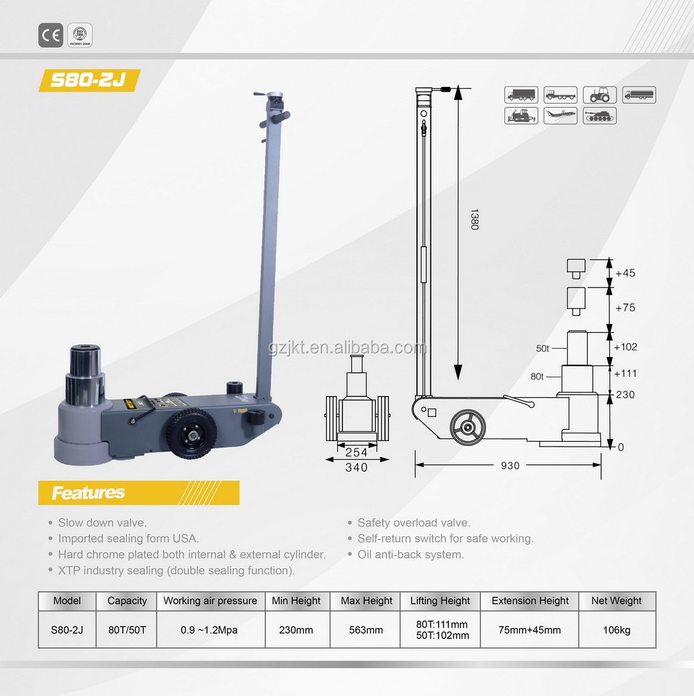 80T CE car jack lifting machine on selling with high quality and best price