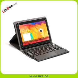 2016 Bluetooth keyboard leather case for Samsung GALAXY Tab 4, leather case for Samsung GALAXY Tab 4 BK910-2