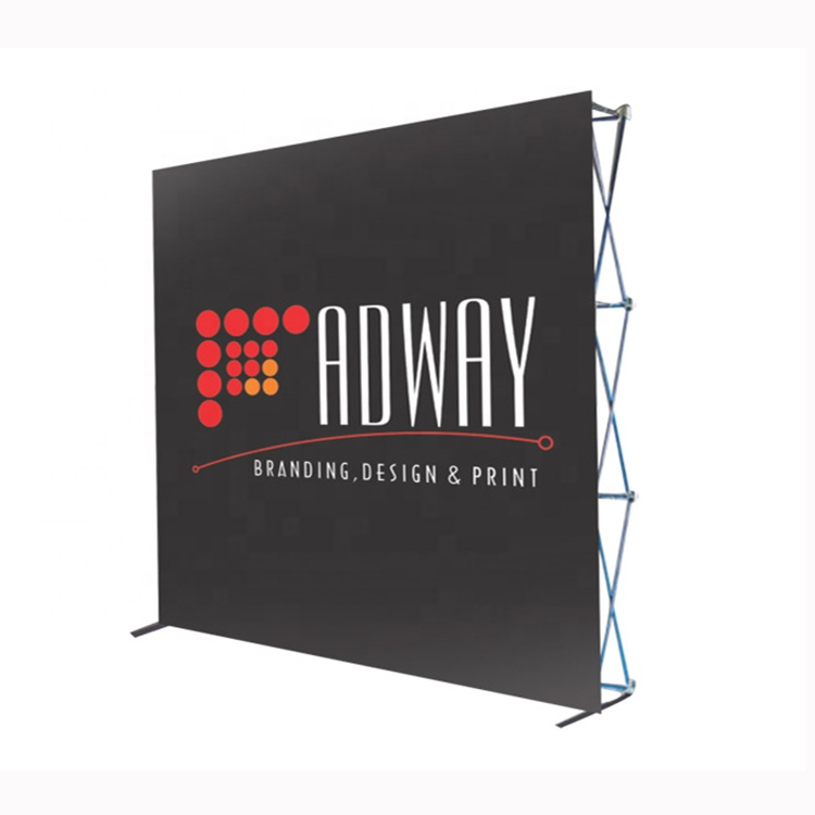 <strong>Manufacturer</strong> Customized Curved Pop Up Fabric Display Banner Stand Wall