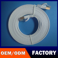 FACTORY LOGO OEM ODM OBM Good Speed rj45 ethernet white Flat 3ft Network Cable