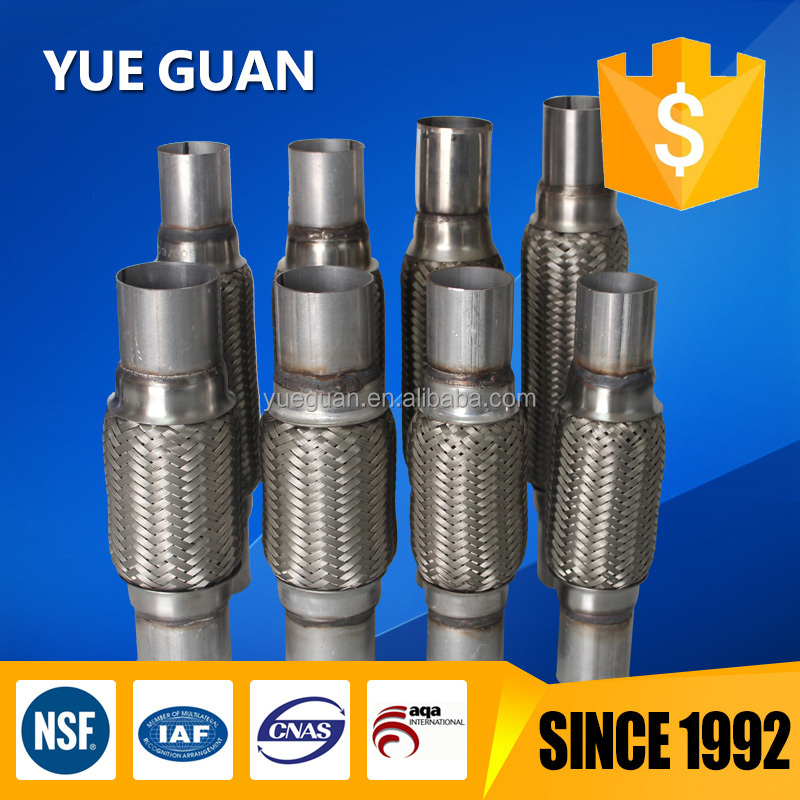 Auto engine/exhaust system/flexible pipe/stainless steel inner braided and aluminium nipple