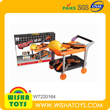 Most Popular Plastic Tool Trolley Super New Boys Tool Set Toy Cart