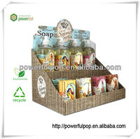 Supply soap display box small cardboard counter display stands