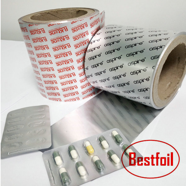Heat sealing lacquer coated aluminum foil for pharmaceutical grade packaigng pills capsules tablets