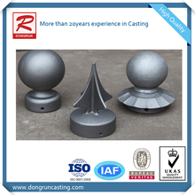 China foundry supply customized cast aluminum ball post cap