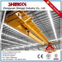 Hot Eot Double Beam Mobile Hook Crane Bridge Overhead Crane 50 Ton At Low Price