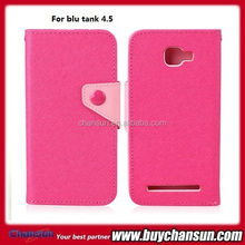mobile phone case for blu tank 4.5 wallet leather case,many colors