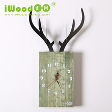 Home decor decorative wood wall clock