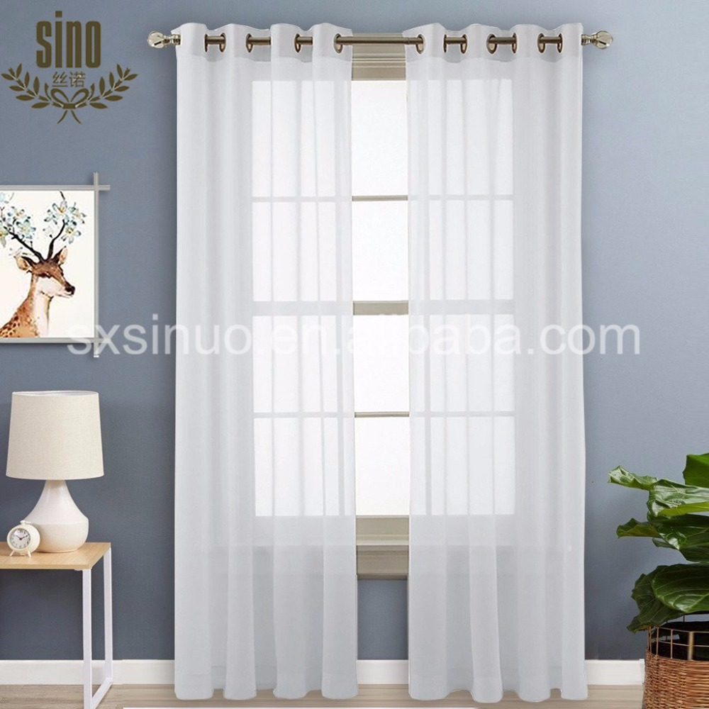 Home Used Wholesale Plain Polyester Fabric Sheer Curtain