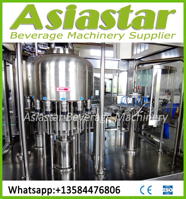 High standard automatic mineral water washing filling sealing machine customized