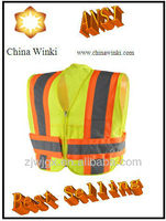 M-SAFE CLASS 2 SAFETY FLAGGER SURVEYORS VEST HI-VIS YELLOW HEAVY DUTY SIZE XL