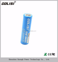 Hot sale Golisi18650 3000mah 40A 3.7v Li-ion rechargeable battery batteries for E-bike with best package