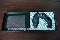 sex toy packaging black paper gift box with insert