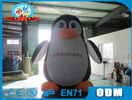 customized inflatable penguin model for advertising