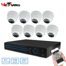 Made in China HD KIT-5208D-B P2P Motion Detection Dome CCTV AHD Camera 1080P HD DVR 2MP CCTV Camera System 8 channel HD CVI KIT