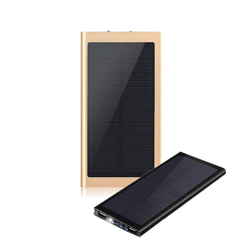 High capacity with LED Camp light outdoor necessary dual ports Solar phone charger ultrathin Power Bank.