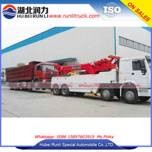 China Hubei Sinotruk HOWO Heavy duty Rotator Wrecker Towing Truck 40Tons For Sales