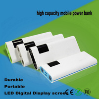 New Mobile Power Bank 20000mAh portable charger external Battery 20000mAH 3 usb output phone Backup powerbank