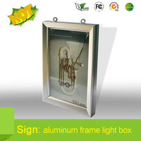 Wholesale Advertising Light Boxes led sliming Illuminated Poster Case for wholesale