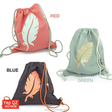 Eco friendly big cords heavy premium cotton gym sack drawstring bag