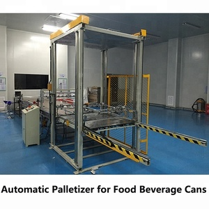 Fully automatic palletizer machine for empty cans packing