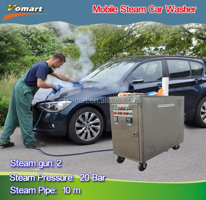 Mobile Electric steam car wash machine with two steam gun/jet power electric motor high pressure washer
