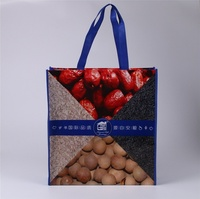 Custom tote bag lamination printed handbag non woven shopping bag