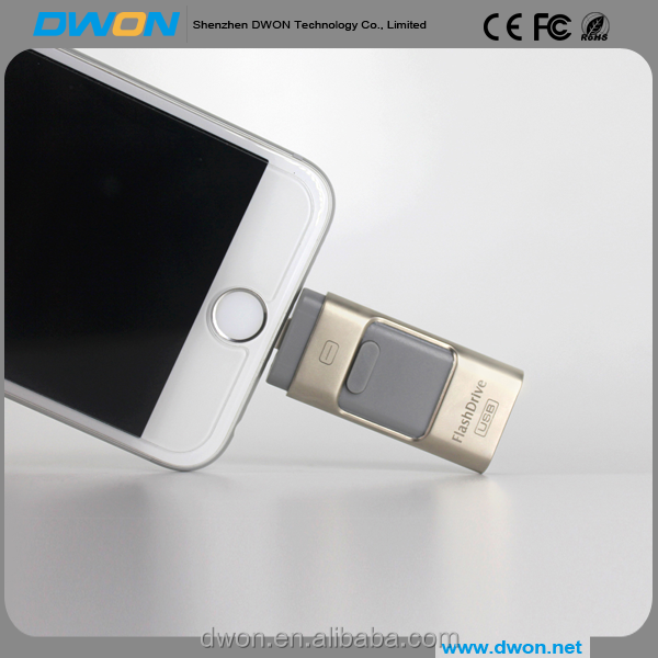 Top selling 3 in 1 USB Iflash Drive for iphone ipad Android 8G 16G 32G 64G USB Flash Drive OTG with best price