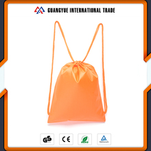Guangyue China Supplier Thick Rope Hnadle Kids School Backpack Promotional Eco Draw String Bags