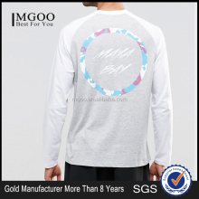 Latest Design OEM Baseball Tee Shirt Customized Tags Long Sleeves Raglan men T-shirts Wholesales Price