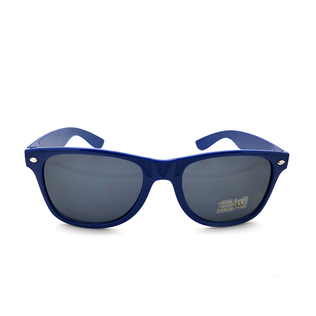 blue frame smoke gradient lenses custom logo polarized sun glasses cheap plastic promotion sunglasses 16S125
