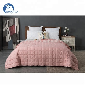 Manufacture promotion customized portable baby blanket fabric weight blanket for bedroom
