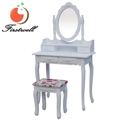 2016 New design Wooden Carving Dressing Table with Cupboard China Manufacturer