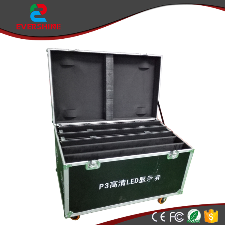 P3 die casting aluminum flight case custom size 1 Pack 6 flight case