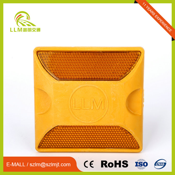 Traffic roadside ABS double side reflector plastic road stud,raised pavement marker